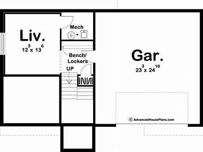 Creighton Plan Level Split Farmhouse Advancedhouseplans Plans