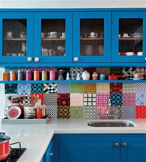colorful kitchens ideas stylish and colorful kitchen backsplash ideas decozilla