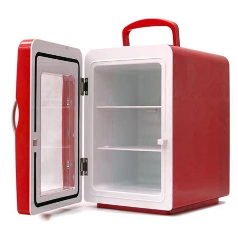 le bureau usb mini frigo 4 litres coloris porte transparente