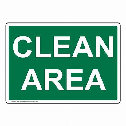 Sign Clean Area Zoom Signs Housekeeping Nhe