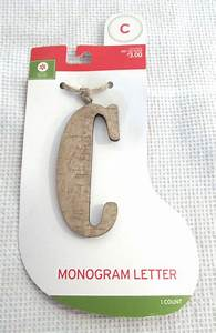 your choice decor wood monogram letter stocking tag With stocking letter ornaments