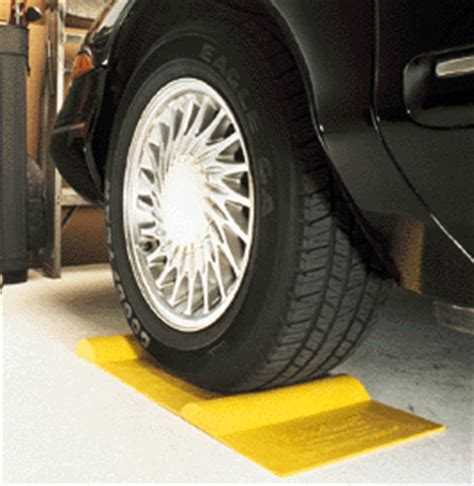 garage car stop park smart parking mat parkingstop parking wedge