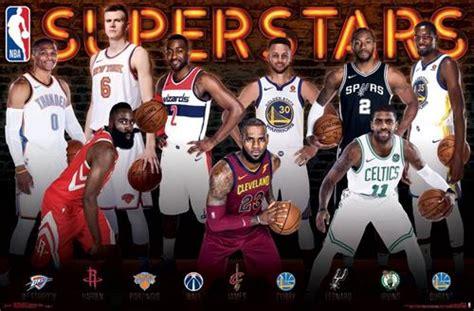 NBA Superstars 2017-18 Poster (Durant, Harden, LeBron ...