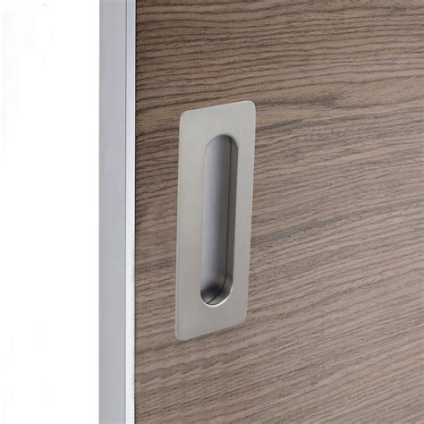 poignee porte cuisine leroy merlin poignée porte coulissante rectangle zamak nickelé gris