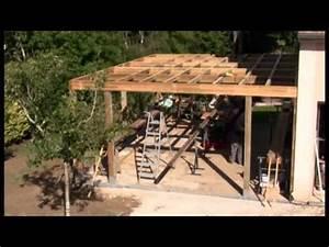 natty bois garage ossature bois avec toit plat et epdm With faire un garage en bois