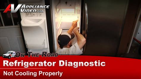 frigidaire electrolux refrigerator diagnostic not cooling properly frs26lf8cs1