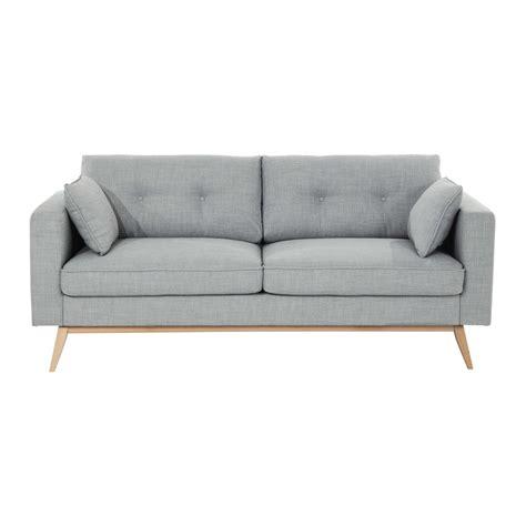 canap tissus canapé 3 places en tissu gris clair maisons du monde