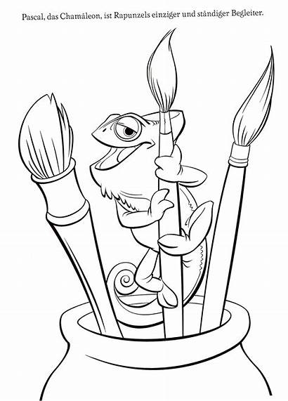 Tangled Pascal Rapunzel Coloring Pages Disney Printable