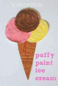 Puffy Paint Ice Cream Craft - The Imagination Tree