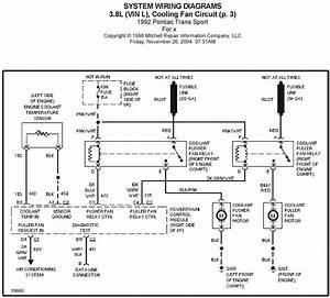 1992 Pontiac Trans Sport 3 8l  Vin L   Cooling Fan Circuit