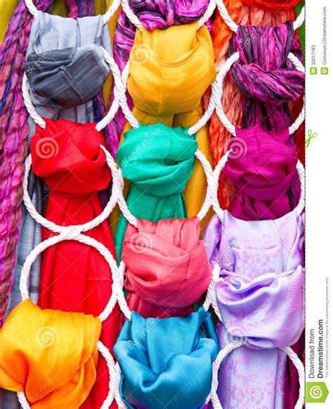 different colored different colored fabrics stock photos image 33017183