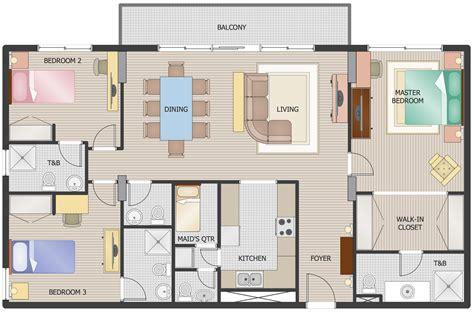 floor plans solution conceptdrawcom