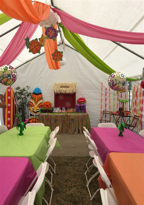 diy decorations   luau theme party great