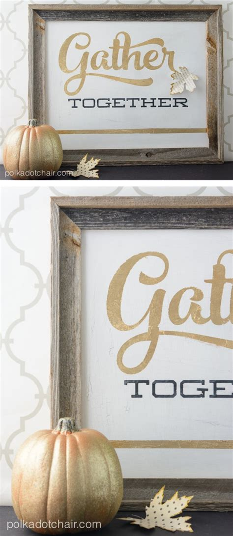 gold leaf signs  thanksgiving gather