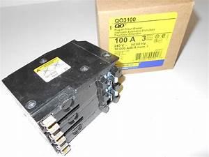 New In Box Square D Qo3100 3 Pole 100 Amp Circuit Breaker