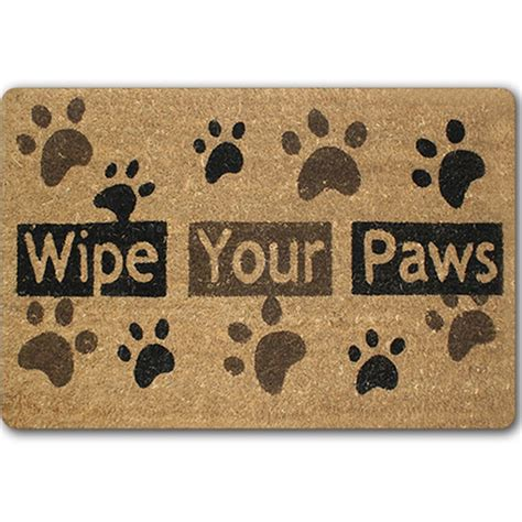 Soggy Doormat Coupon by Paw Words Go Away Rubber Indoor Outdoor Welcome