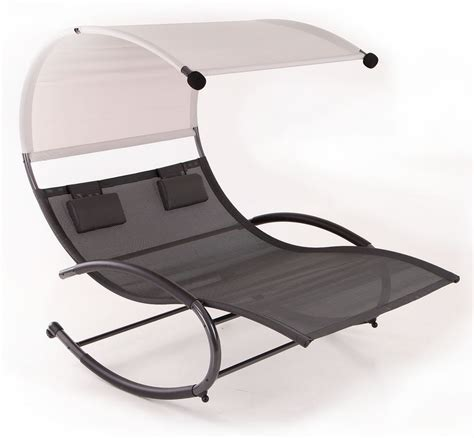 chaise rocker patio furniture seat chair canopy