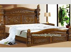 Online Wooden Furniture Carved Double Bed Used Bed For
