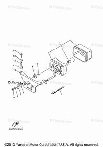 Yamaha Atv 2003 Oem Parts Diagram For Taillight