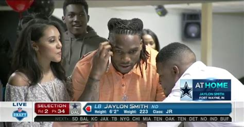jaylon smith emotional   drafted