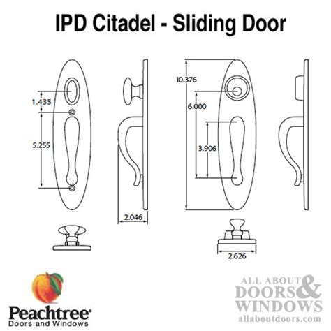 ipd citadel peachtree sliding door handle set polished bras