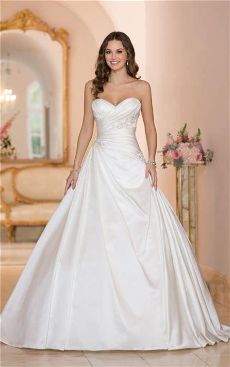 Ball Gown Strapless Sweetheart Satin Draped Wedding Dress