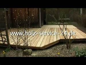 Bau Einer Holzterrasse : holz service bau einer holzterrasse mit terrassendielen aus sibirischer l rche youtube ~ Sanjose-hotels-ca.com Haus und Dekorationen