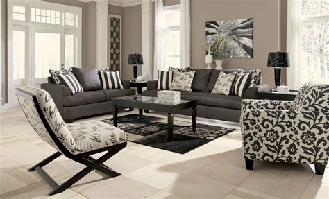 living room l sets levon charcoal living room set from ashley 73403
