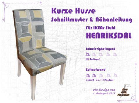 Hussen Für Stühle Ikea by Henriksdal Kurze Husse Ebook Schnittmuster