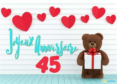 anniversaire de mariage 45 ans carte 45 ans cartes et invitations gratuites 123 cartes
