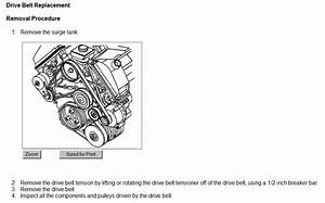 Belt Routing Diagram For 2001 Oldsmobile Intrigue 3 5 Engine
