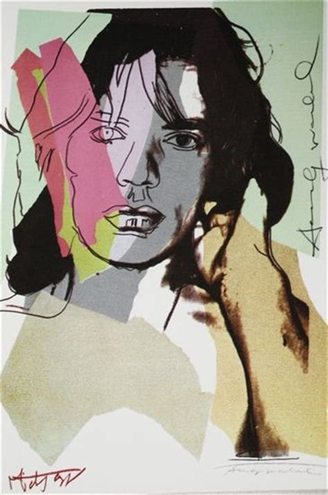 andy warhol mick jagger signed announcement card