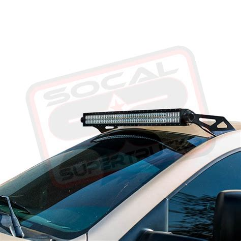 50 quot rigid led light bar w roof mount brackets 2002 2008
