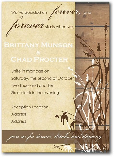 Country Themed Wedding Invitation