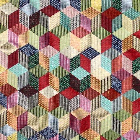 tissu dameublement jacquard  motif ethnique vintage