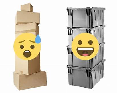 Reusable Cardboard Stackable Vs Boxes Az
