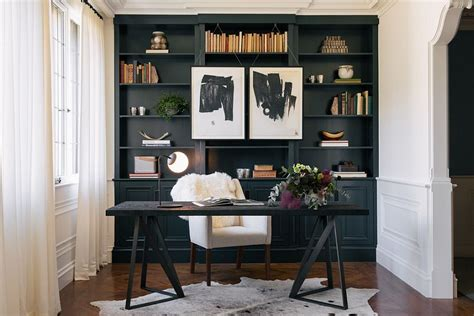 Black Parisian Interior Design Home Office by 30 Black And White Home Offices That Leave You Spellbound