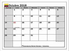 Calendario 2018 colombia 2019 2018 Calendar Printable