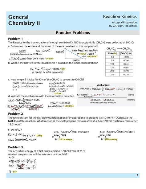 chemical kinetics worksheet answers geotwitter kids activities
