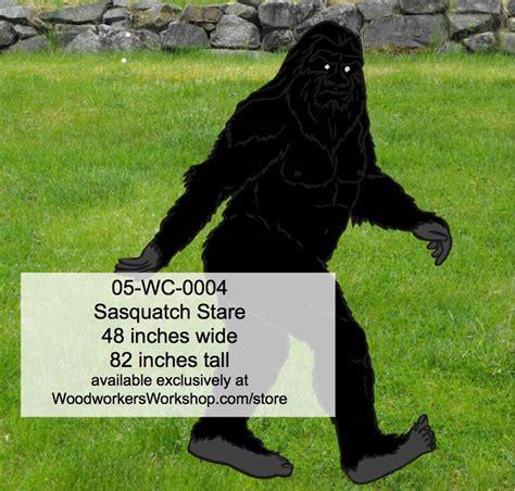 sasquatch stare yard art woodworking pattern
