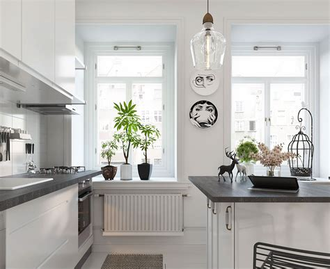 scandinavian kitchen accessories bright scandinavian decor in 3 small one bedroom apartments 2112