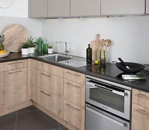 Cuisine équipée Bois : couleur meuble cuisine bois le bois chez vous ~ Premium-room.com Idées de Décoration