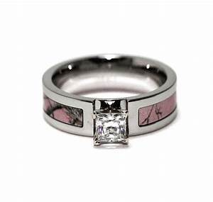 pink camo wedding ring sets with real diamonds mini bridal With camo wedding rings sets with real diamonds