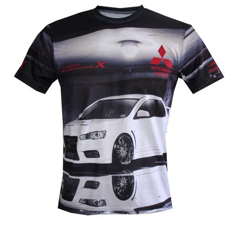 Mitsubishi Evo Shirts by Mitsubishi T Shirt With Logo And All Printed Picture