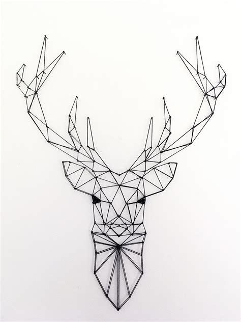 tate vecteur cerf geometrique tate cerf bois dessin