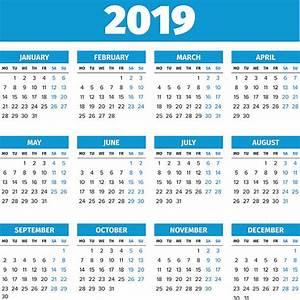 Calend rio 2019 Com Feriados Nacionais takvim kalender HD