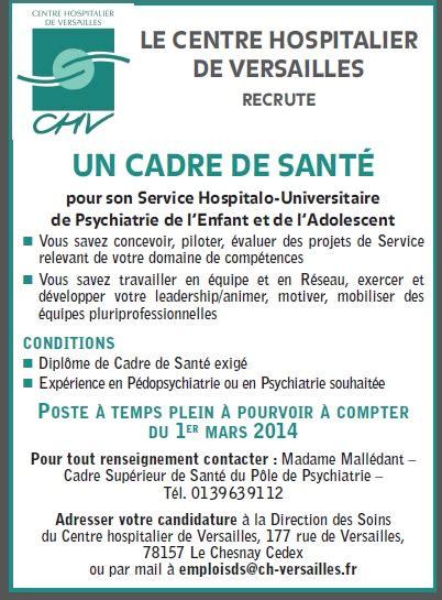revue cadre de sante sant 233 mentale le centre hospitalier de versailles recrute un cadre de sant 233