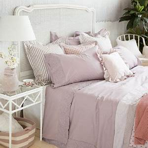 Bettwäsche Zara Home : bettw sche aus perkal mit stickerei in lila bettw sche schlafen zara home deutschland ~ Eleganceandgraceweddings.com Haus und Dekorationen