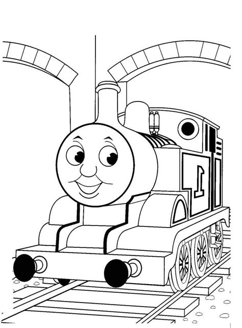 thomas  train tunnels coloring pages thomas