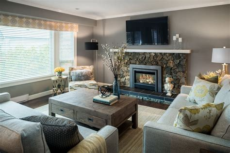 fireplace and grey living room paint color ideas